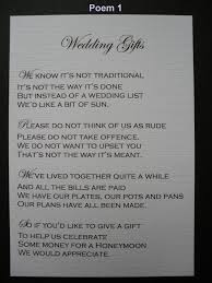 wedding gift money poem wedding poems asking for money instead of gifts emasscraft org