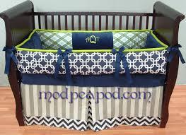 Baby Boy Blue Crib Bedding by Ashton Navy Blue And Green Boy Baby Bedding
