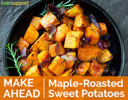make ahead thanksgiving maple roasted sweet potatoes