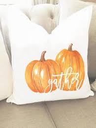 blue truck pillow cover pumpkins in truck pillow cover