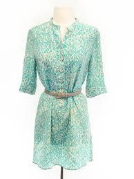 tucker size 2 mint green animal print dress belt not included