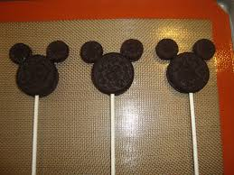 mickey mouse oreo pops dip it in chocolate