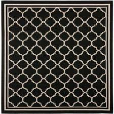 Black Outdoor Rugs Square Square 1 6 Black Outdoor Rugs Rugs The Home Depot