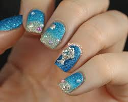 copycat claws blingy textured beach nails
