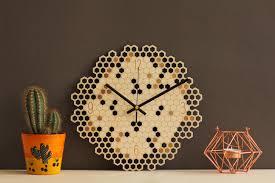 geometric wall clock unique clock unique wall clock