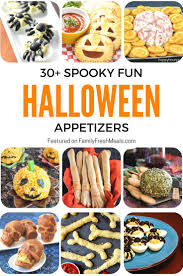 spooky fun halloween appetizers recipes food and meals