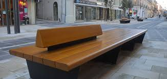 Bench Supports Double Linear Bench Solid Wood With Steel Supports Also