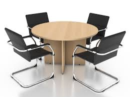small round conference table small round meeting table and chairs d model dsmax files free with