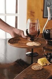 amazon com wooden wine glass holder plate wine racks kitchen