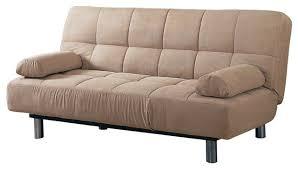 contemporary futon sofa bed beige vinyl leather finish futon sleeper sofa bed contemporary