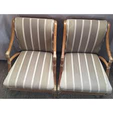 Rattan Accent Chair Vintage Mcguire Rattan Accent Chairs A Pair Chairish