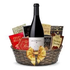 wine baskets free shipping buy la crema pinot noir gift basket online free shipping