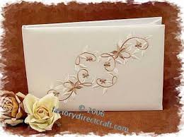 wedding guest registry candlelight embroidered wedding guest registry sign in book