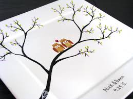 painted platter pin by on baby guest book for shower area