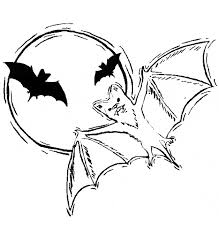 coloring page of a bat vampire bat coloring page animals town animals color sheet