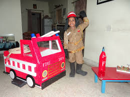 fancy dress sarayu as fire fighter youtube