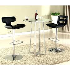 glass pub table and chairs chrome pub table pub table in chrome chrome glass bar table
