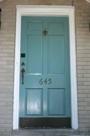 Painting Exterior Doors Ideas Front Doors Mesmerizing Teal Front Door Paint For Ideas Door