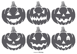 hand dawn spooky halloween pumpkins download free vector art