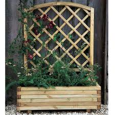 forest garden toulouse planter with trellis internet gardener