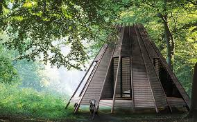 teepee style modern cabins by antony gibbon