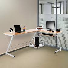 T Shaped Computer Desk by Homcom L Shaped Computer Desk Workstation With Keyboard Tray Aosom Ca