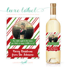teacher christmas wine label personalized teacher
