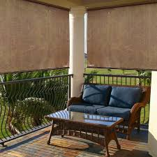 Roll Up Patio Screen by Radiance Cocoa Indoor Outdoor Roller Exterior Sun Shade Hayneedle