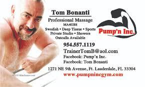 Sports Massage Business Cards Tom Bonanti Business Cards U2013 Create The Effect
