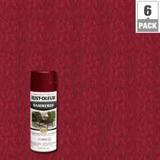 Red Paint by Rust Oleum Stops Rust 12 Oz Protective Enamel Hammered Bright Red