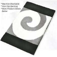 Black And White Bathroom Rugs Filou Quality Contemporary Bath Rugs Swirl Design