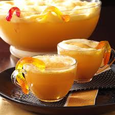 Kraft Halloween Appetizers Wormy Orange Punch Recipe Taste Of Home