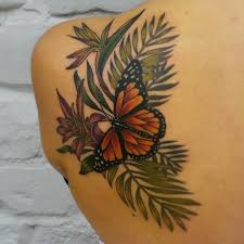 lonelydreamertattoo bird of paradise neo traditional monarch