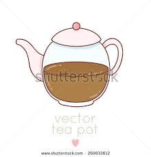 sketch teacup teapot abstract design logo stock vector 139272281