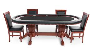 8 person poker table rockwell mahogany oval black felt 8 person poker table set ipokertable