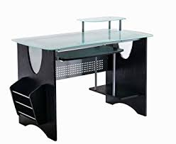 Top Computer Desk Stylish Frosted Glass Top Computer Desk With Storage