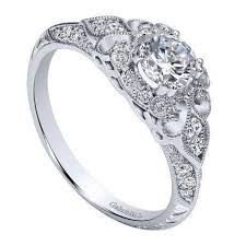 Vintage Style Wedding Rings by 14k White Gold 76cttw Ornate Vintage Style Round Diamond