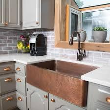 Kitchen Sink Copper Kitchen Makeovers Discount Copper Farmhouse Sinks Copper