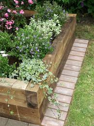 wood landscape borders best 25 wooden garden edging ideas on