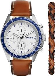mens watches with bracelet images Mens fossil sport 54 leather watch bracelet box set ch3090set gif