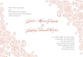 baby pink wedding invitation template word document with ornament