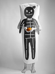 make an easy paper halloween skeleton costume guest post by la