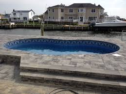 semi inground pools free form inground pools dream home