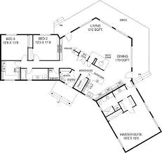 Split Two Bedroom Layout C Shaped Floor Plan 77135ld Northwest 1st Floor Master Suite