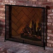 colonial flat fireplace screen graphite powdercoat northline express