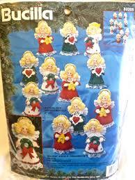 vintage bucilla christmas ornament kit 83205 holiday angels