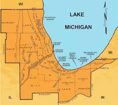 map of calumet michigan chicago district navigation