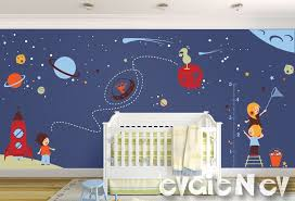 Wall Decals For Nursery Boy Space Wall Decals Nursery Boy Space Wall Stickers With Aliens