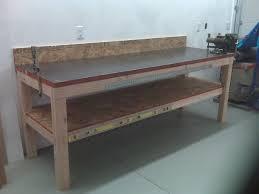 Bench Material Garage Workbench Garage Workbench Top Material Ideasgarage