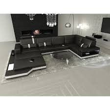 modern sectional sofas los angeles design modern los angeles black u shaped sectional sofa free
